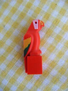 NEW LEGO PIRATES RED GREEN PARROT BIRD PART X1 TROPICAL ANIMAL MINIFIGURE