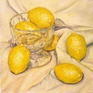 Still Life lemons illusion realism  13x19 art artist print modern gift new