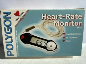 Polygon Heart Rate Monitor with 12 hour clock and alarm function.Brand New Boxed
