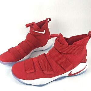 Nike LeBron Soldier 11 XI Basketball Shoes - SZ 16.5 - University Red 943155-600
