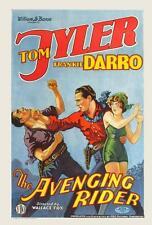 THE AVENGING RIDER Movie POSTER 27x40 Tom Tyler Florence Allen Frankie Darro Al