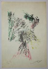 DAX Adrien [Sans titre]. 1959-1960. LITHOGRAPHIE en couleurs SIGNEE Boîte alerte