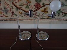 Matched Pair Mid Century Lucite Knoll Crylicord Table Lamps - Peter Hamburger