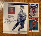 "Bernie ""Boom Boom"" Geoffrion signed Miller Lite Beer All Star photo - CANADIENS"