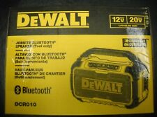 DEWALT DCR010 12V/20V MAX Jobsite Bluetooth Speaker NEWEST MODEL NEW Cordless