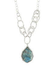 Silpada Sterling Silver Labradorite Wild Blue Youder Necklace N3094