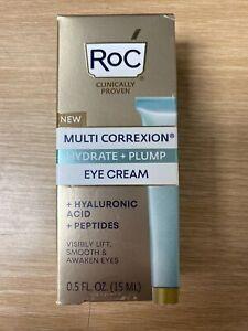 RoC Multi Correxion Hydrate + Plump Eye Cream with Hyaluronic Acid - 0.5oz
