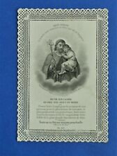 Santino Holy Card Canivet Letaille 187 San Giuseppe Saint Joseph