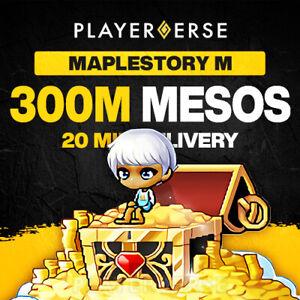 Maplestory M Mesos - 300M (300,000,000) Million - All Servers - America/Europe