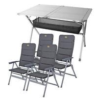 """Camping Möbel Set 4 Stühle """"Grenoble"""" , 1x Tisch """"Titanspace"""" für Wohnwagen"""