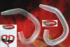 2 Clip per auricolari Mp3 gancio orecchio archetto adattatore gomma TRASPARENTE