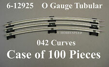 "LIONEL O GAUGE TRACK O42 CURVE 42"" DIAMETER train CASE of 100 pcs 6-12925 (100)"
