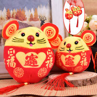 1PC New Year Plush Rat Year Mascot Toy Pendant Plush Red Mouse In Tang Suit T ni