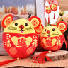 1PC New Year Plush Rat Year Mascot Toy Pendant Plush Red Mouse In Tang Suit T`