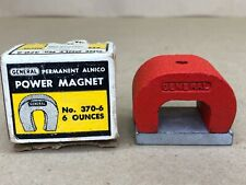 General Permanent Alnico Power Magnet No. 370-6 Made in England Horseshoe Magnet