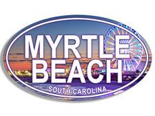 3x5 inch OVAL Myrtle Beach City Seal Sticker - south carolina east coast travel