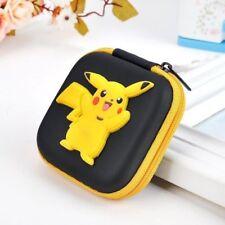 NEW Pokemon Pikachu Kids Boys Girls Rubber Coin Purse Wallet Headset Bag Gift