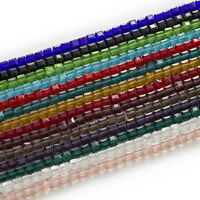 50 Piece Cut Faceted Cube Crystal Glass Spacer Beads DIY Jewelry Making 4-8mm