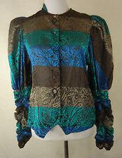 Mehrfarbige Damenblusen, - Tops & -Shirts aus Polyester mit Rundhals-Blusen im
