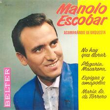 MANOLO ESCOBAR Acompañado De Orquestra SP Press Belter 50.821 EP
