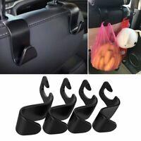4PCS Car Back Seat Headrest Hanger Storage Hooks For Groceries Bag Handbag Ga