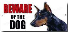 DOBERMAN BEWARE OF THE DOG METAL SIGN,SECURITY,WARNING DOG SIGN.