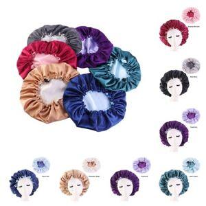 Women Bonnet Double Layer Reversible Adjustable Sleep Cap Bonnet Head Cover