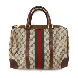 Gucci Boston Bag  Browns PVC 1518846