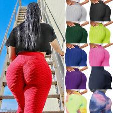 Women Tik Tok Leggings Anti-Cellulite High Waist Push Up Yoga Pants Gym Fitness