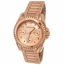 Michael Kors Ladies Blair Rose Gold Tone Chronograph Designer Watch MK5613