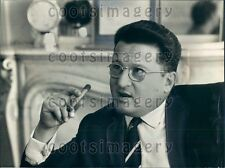 1966 France Politician Michel Bongrand Smoking Cigar Press Photo