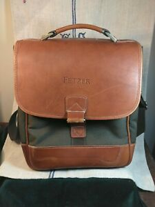 Fetzer Vineyard Leather Canvass Insulated Wine/Picnic Tote