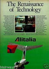 ALITALIA 1988 THE RENAISSANCE OF TECHNOLOGY FIUMICINO TECH CENTER ROME MD-80 AD