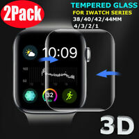 2X For Apple Watch 40/44/42/mm FULL COVER 3D Tempered Glass Screen Protector DE