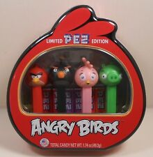 Pez Angry Birds Red Limited Edition Collector Set of 4 Shaped Metal Tin