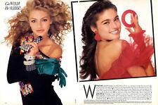 """1987 Kei Ogata Michaela Bercu MAGAZINE EDITORIAL - """"Go Wild! Be Sleek!"""""""