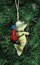 Fish,Fishing, Angler, Hiking Christmas Ornament