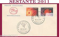 ITALIA FDC IL CAVALLINO 1977 DONIAMO SANGUE DONATORI  ANNULLO GENOVA H262