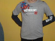 TOP  Langarm Shirt Longsleeve SPIDERMAN Lagenlook grau d.-blau Gr.98 NEU