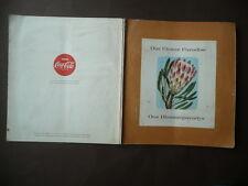 "Marchio Coca Cola Figurine 1963 Golden Jubilee Album ""Our Flower Paradise"""
