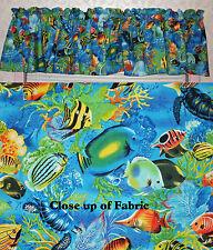 New Tropical Fish Beach House Valance Curtain Valances