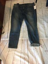 New Joe Joe's  Jeans  Denim Size 31 Rolled Cuff Crop Skinny Stretch Blue Women's