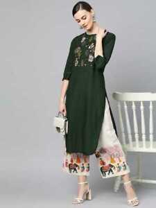 Designer Kurti Set, Kurta Palazzo Set For Women, salwar kameez, Embroidered Suit