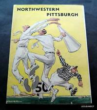 Vintage NCAA College Football Program Northwestern vs Pittsburgh October 1 1949