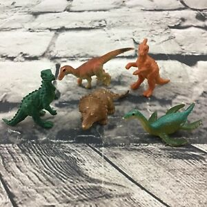"""Dinosaur And Prehistoric Creatures Figures Lot Of 5 Small 2"""" Cake-Topper Toys"""