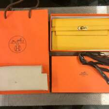Hermes Paris Kelly Women Long Wallet Purse Accessory Yellow New Rare 100% Auth