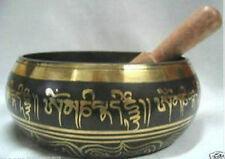 Tibet Beautiful Antique Tibetan Buddhism Cuprum Mantra Singing Bowl
