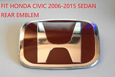 Red JDM H Emblem Rear For 06-15 HONDA CIVIC SEDAN DX EX LX SI