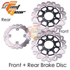 Front Rear SS Brake Disc Rotor Set For Kawasaki ZX-10R 1000cc Ninja 04 05 06 07