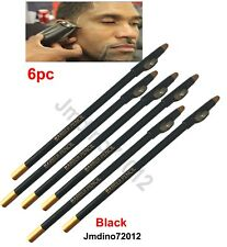 6pcs Black Barber Pencil for outlining before trimming and shaving